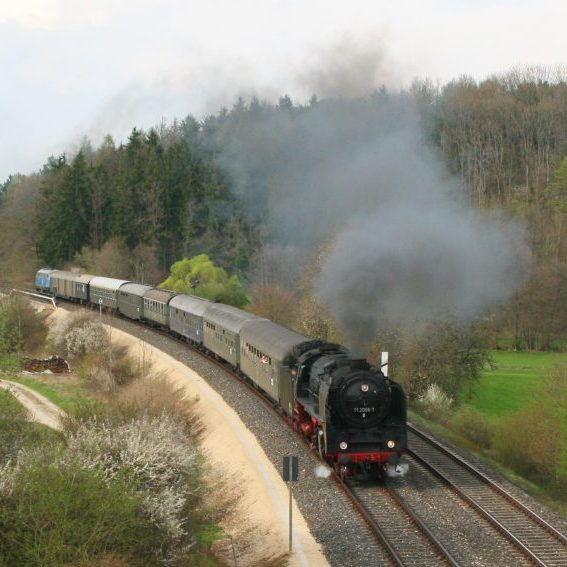 01 2066 auf der Rückfahrt von Dresden nach München. (Foto: Thorsten Fuchs)