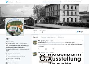 Die Pegnitzer Eisenbahnfreunde auf twitter (https://twitter.com/91257_PEF)
