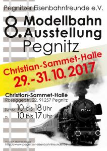8. Modellbahnausstellung vom 29. bis 31. Oktober 2017