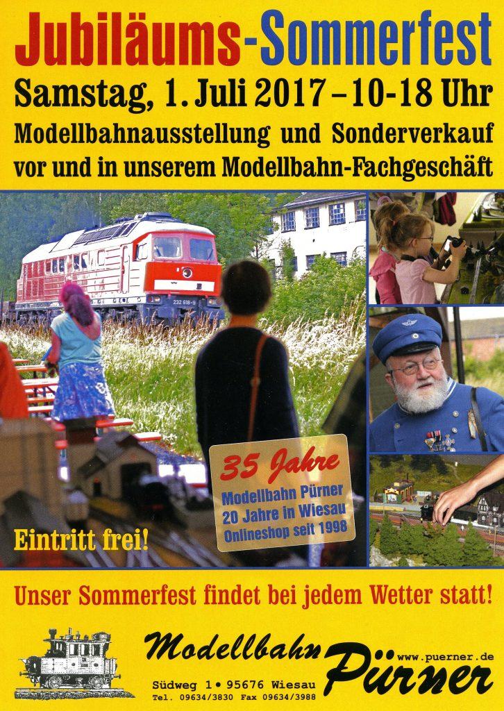 Flyer zum Sommerfest von Modellbahn Pürner