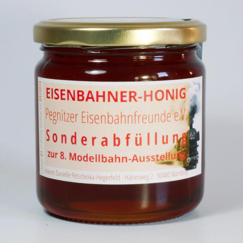 Sonderabfüllung 500g EISENBAHNER-HONIG zur 8. Modellbahn-Ausstellung